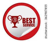 red circle no.1 best service ... | Shutterstock . vector #362987855