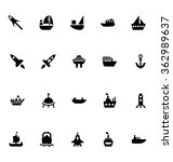 aircraft and ships vector icons ... | Shutterstock .eps vector #362989637
