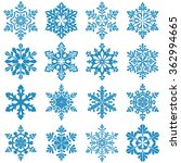 set of decorative snowflake... | Shutterstock .eps vector #362994665
