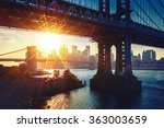 new york city   beautiful... | Shutterstock . vector #363003659