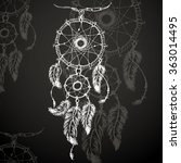dreamcatcher  feathers and... | Shutterstock . vector #363014495