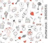 hand drawn doodle vector... | Shutterstock .eps vector #363020531