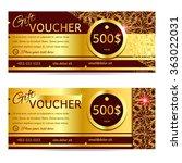 gift voucher. vector ... | Shutterstock .eps vector #363022031