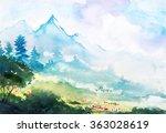 Spring Mountain Watercolor...