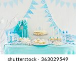 cake  candies  marshmallows ... | Shutterstock . vector #363029549