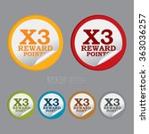 vector   circle x3 reward...   Shutterstock .eps vector #363036257