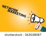 megaphone with network... | Shutterstock .eps vector #363038087