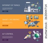 internet of things flat banners ... | Shutterstock . vector #363044714