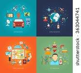 map design concept | Shutterstock . vector #363044741