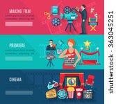 filmmaking banners set | Shutterstock . vector #363045251