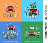 auto mechanic 4 icons square... | Shutterstock . vector #363046427