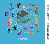spa body care isometric concept  | Shutterstock . vector #363047279