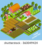 farm complex isometric blocks... | Shutterstock . vector #363049424