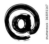e mail sign  symbol icon ... | Shutterstock .eps vector #363051167
