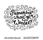 cute hand drawn beautiful card. ... | Shutterstock .eps vector #363053849