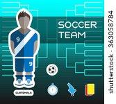 soccer team guatemala  ...   Shutterstock . vector #363058784