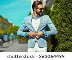 high fashion look.young stylish ... | Shutterstock . vector #363064499