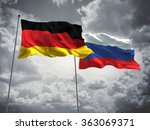 germany   russia flags are... | Shutterstock . vector #363069371