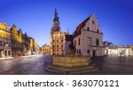 night view of poznan old market ... | Shutterstock . vector #363070121