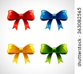ribbon bows.set of colorful... | Shutterstock .eps vector #363082565