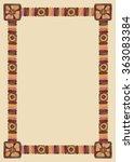 watercolor african tribal... | Shutterstock . vector #363083384