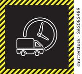 fast delivery line icon... | Shutterstock .eps vector #363083489