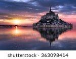 Le Mont Saint Michel At Sunset  ...