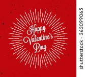 happy valentine's day lettering.... | Shutterstock .eps vector #363099065
