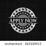 apply now with chalkboard... | Shutterstock .eps vector #363100415
