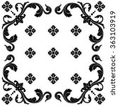 vintage baroque frame scroll... | Shutterstock .eps vector #363103919