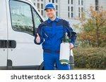 portrait of smiling pest... | Shutterstock . vector #363111851