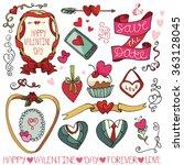valentines day wedding love... | Shutterstock . vector #363128045