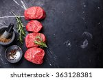 raw fresh marbled meat steak... | Shutterstock . vector #363128381