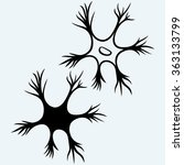 neuron icon. isolated on blue...