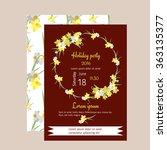 floral  narcissus retro vintage ...   Shutterstock .eps vector #363135377