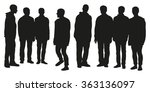 group of men silhouettes | Shutterstock .eps vector #363136097