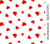 seamless pattern with red hearts | Shutterstock .eps vector #363137291