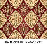 colorful  floral persian... | Shutterstock .eps vector #363144059