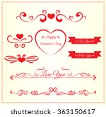 set of valentine decoration... | Shutterstock .eps vector #363150617