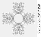 ornament of ancient incas.... | Shutterstock .eps vector #363155549