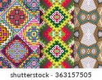 set of 3 abstract  seamless... | Shutterstock .eps vector #363157505
