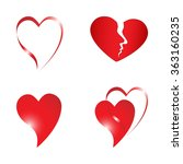 heart  sign  | Shutterstock .eps vector #363160235