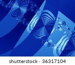 abstract fractal leaves and... | Shutterstock . vector #36317104
