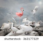 stand out from a crowd  ... | Shutterstock . vector #363177329