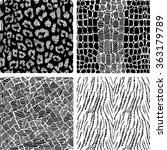 set of animal print seamless... | Shutterstock .eps vector #363179789