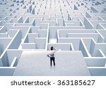 an elegant businessman standing ... | Shutterstock . vector #363185627
