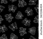 vector seamless pattern with... | Shutterstock .eps vector #363186404