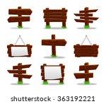 wooden signs set  10eps. | Shutterstock .eps vector #363192221