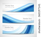 abstract header blue wave white ... | Shutterstock .eps vector #363197141