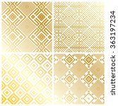 royal gold geometric pattern... | Shutterstock .eps vector #363197234